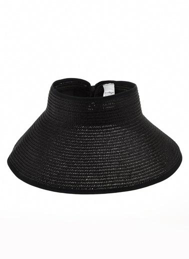 Morhipo Beach Kurdelalı Hasır Şapka Siyah